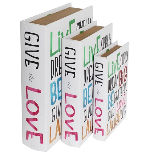 BOOK BOX ブックボックス 3個セット(本型箱)(LL・L・Mサイズ)/GIVE the LOVE【取り寄せ品/納期1週間前後】