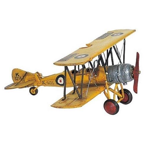 ブリキのおもちゃ飛行機 イギリス戦闘機(複葉)(Mサイズ) , 大人の ...